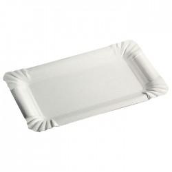 Assiette carton rectangulaire 130 x 200 mm