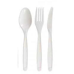 Kit fourchette+couteau+cuillère couverts amidon de maïs