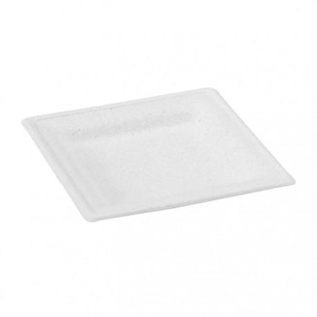 Assiette pulpe carrée 180 x 180 mm