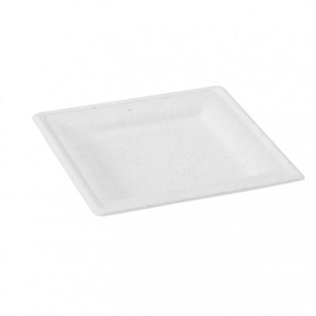 Assiette carrée pulpe 200 x 200 mm