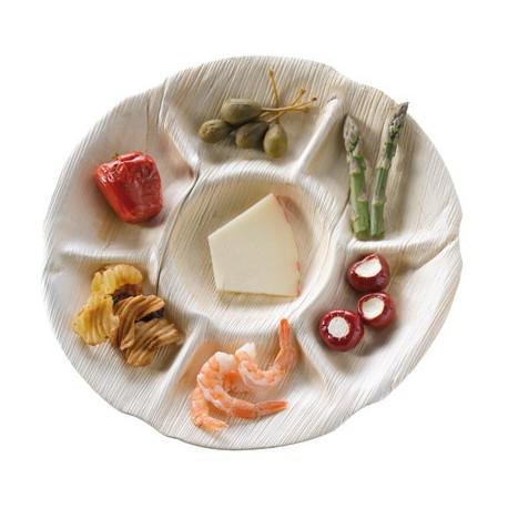 Assiette palmier diamètre 300 mm, 7 compartiments
