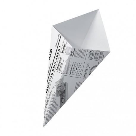 Cône carton news 225 x 135 mm, 250 ml