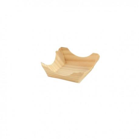 Mini assiette bois 60 x 60 x 25 mm