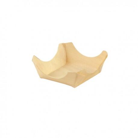 Mini assiette bois 95 x 95 x 35 mm