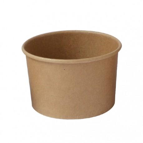 Pot glace kraft 180 ml