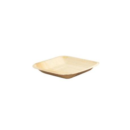 Assiette carrée palmier 170x170mm