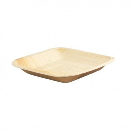 Assiette carrée palmier 200x200mm