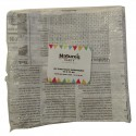 Sac blanc ingraissable pocket impression newspaper 170x170 mm