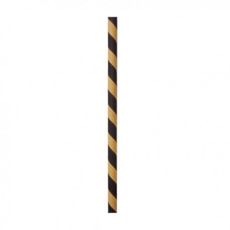 Paille papier kraft/noir 210 mm